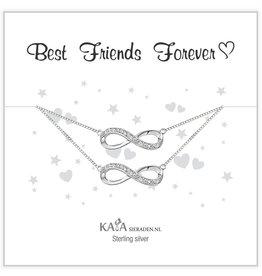 Kaya Sieraden Kadodoosje .925 Zilveren armbandjes 'Infinity' Best Friends Forever