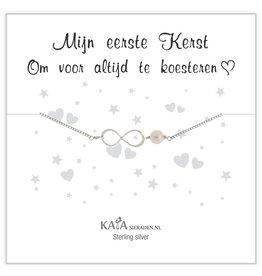 Kaya Sieraden Kadodoosje .925 zilveren armband 'Mijn eerste Kerst'