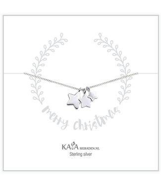 Kaya Sieraden .925 zilveren ketting 'Merry Christmas'