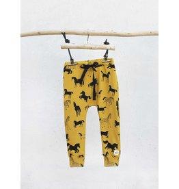 Pocopato Mustard pants Horses