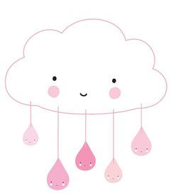 A Little Lovely Company Mobile: Wolk roze