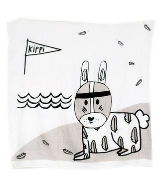 Kippins River Kippintale™ big muslin wrap en snooze blanket with Rabbit