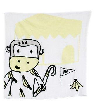 Kippins Split Kippintale ™ big muslin wrap and snooze blanket with Monkey
