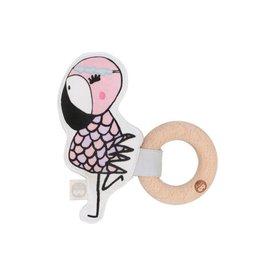 Kippins Rattle - Kiplet - Coco - Flamingo