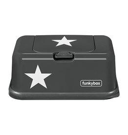 Funkybox billendoekjes houder Antracietgrijs met ster