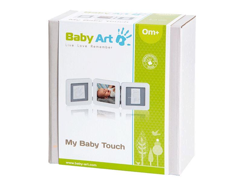 Baby Art double foto frame met gipsafdruk