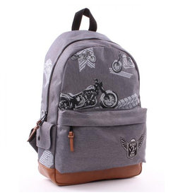 Kidzroom Backpack Amigo Motor gray 39 cm