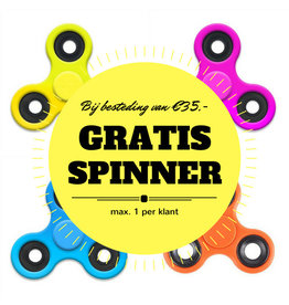 Free spinner with spending of min € 35, -