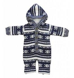 Dirkje Snowsuit Knitted Navy + Off-white