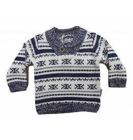 Dirkje Sweater Jaquard Off-White/Navy