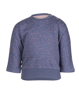 Noeser Sweater Belle Batwing science blue/pink