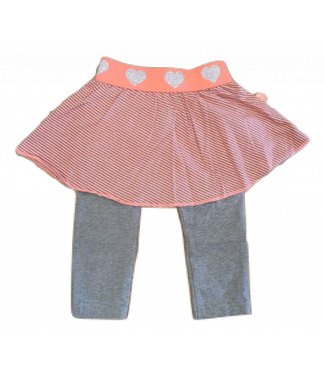 Dirkje Skirt with legging neon pink