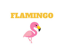 Gifts with flamingos