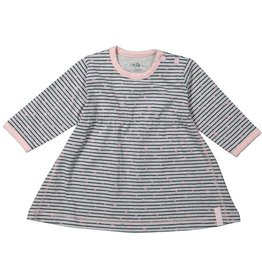 Dirkje dress stripe gray melee