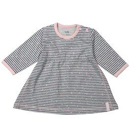 Dirkje jurk Stripe Grey melee