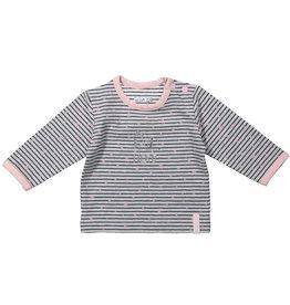Dirkje baby longsleeve Girls Grey Melee Stripe