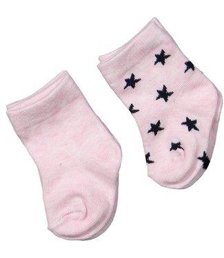 Dirkje set van 2 paar sokken Roze/Zwart
