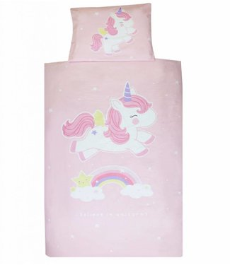 A Little Lovely Company Unicorn duvet cover 140 x 200 cm 1 person