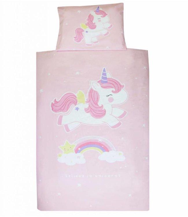 A Little Lovely Company Unicorn duvet cover 140 x 200 cm 1 person