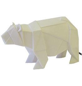 House of Disaster origami bear lamp white