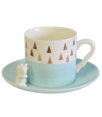 House of Disaster Triangle Squirrel set Cup and Saucer