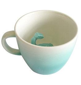 House of Disaster dinosaur origami turquoise mug