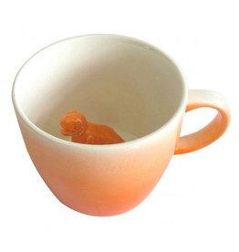 House of Disaster dinosaur origami orange mug