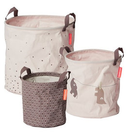 Done by Deer Soft storage baskets set of 3 powder