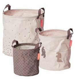 Done by Deer Soft storage baskets set van 3 powder