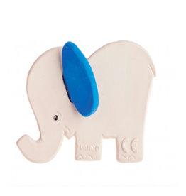 Lanco Rubberen bijtspeeltje olifant met blauwe oren