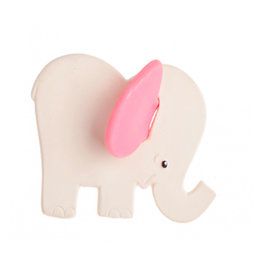 Lanco Rubber teething elephant with pink ears