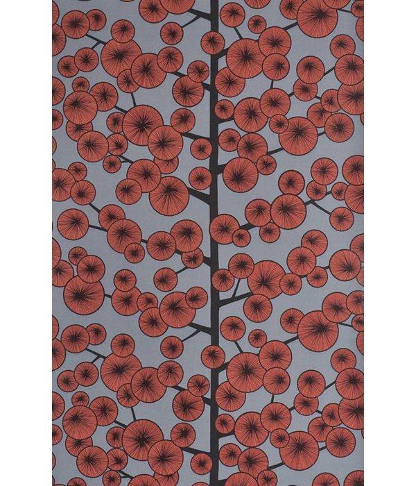 Miss-Print Behang Cotton Tree grijs en rood MISP1034