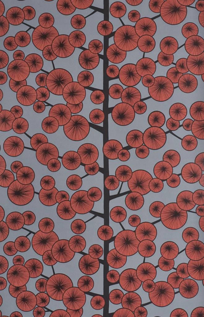 Behang cotton tree grijs en rood misp1034 de mooiste muren - Kamer in rood en grijs ...
