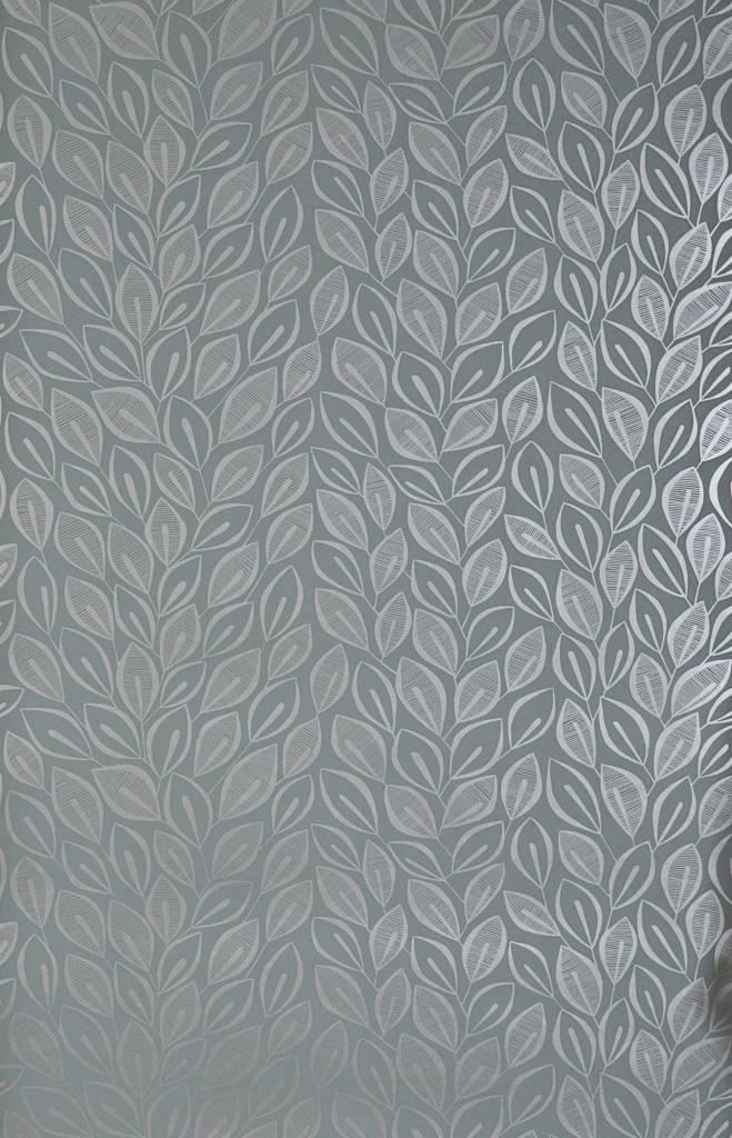 Behang leaves grijs misp1029 de mooiste muren - Grijs behang ...