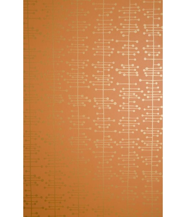 Miss-Print Behang Muscat small oranje MISP1003