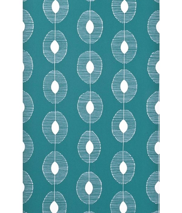 Miss-Print Behang Dewdrops turquoise MISP1088