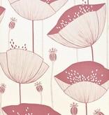 Miss-Print Behang Poppy wit roze MISP1062