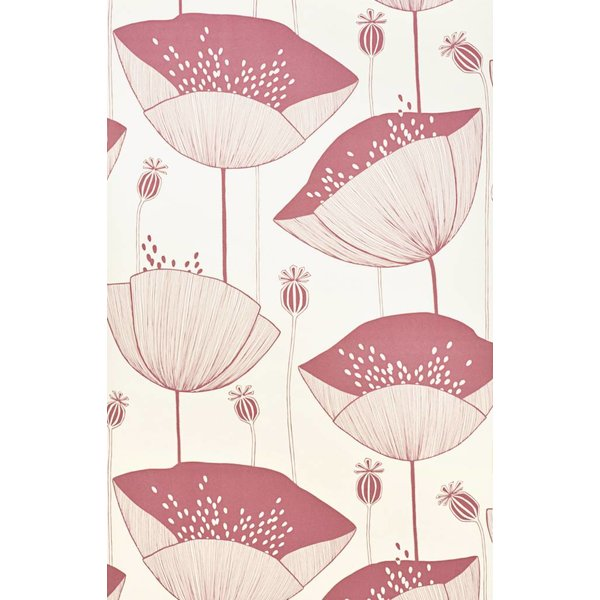 Behang Poppy wit roze MISP1062