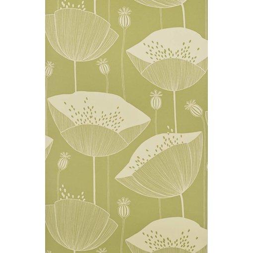 Miss-Print Behang Poppy groen MISP1064