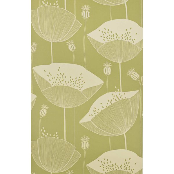 Behang Poppy groen MISP1064