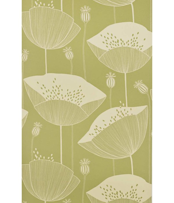 Miss-Print Behang Poppy groen MISP1064