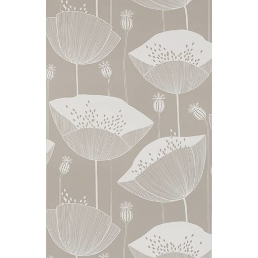 Miss-Print Behang Poppy grijsbeige MISP1067