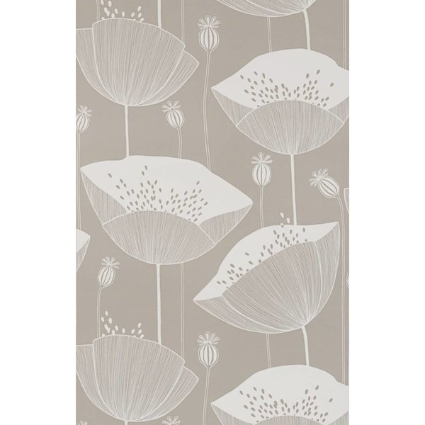 Behang Poppy grijsbeige MISP1067