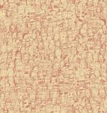 Tres-Tintas Behang Mil Caras rozerood 19956 Behang