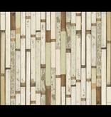 Piet Hein Eek Behang Piet Hein Eek - sloophout vaal mint, wit Wallpaper