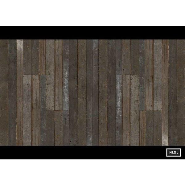 sloophout donker grijs - bruin PHE-04