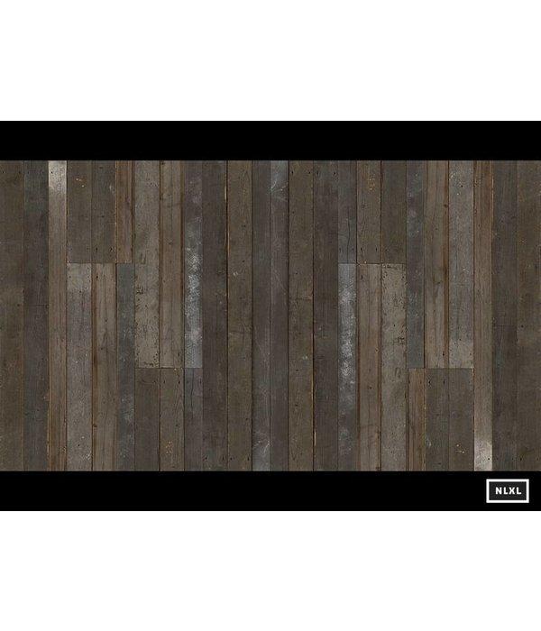 Piet Hein Eek sloophout donker grijs - bruin PHE-04 Behang