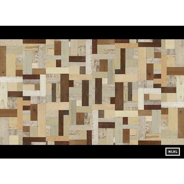 Behang Piet Hein Eek - sloophout vierkant multi-colour