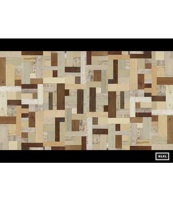Piet Hein Eek sloophout vierkant multi-colour PHE-06 Behang