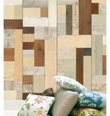 Piet Hein Eek Behang Piet Hein Eek - sloophout vierkant multi-colour Wallpaper